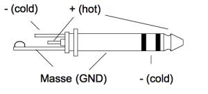 Pin Belegung bei symmetrischer Verbindung Klinke